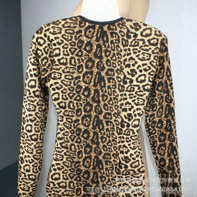 供应加厚豹纹女式保暖上衣 时尚经典 永不过时女士保暖上装