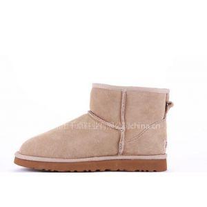 供应2011年秋冬季新款 100%牛皮真皮 低筒靴 5854雪地靴