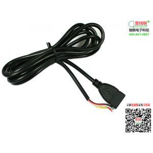 供应【驰联热销】驰联电子专业生产USB AF TO OPEN 电源线 AF 4芯延长线定制