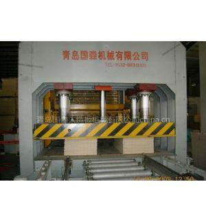 竹(实)木复合板成套加工机械设备压力机--青岛国森
