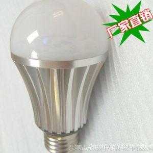 供应工厂直销大功率LED5W球泡灯暖白/正白2700-7000K