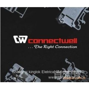 供应我司代理印度Connectwell接线端子 弹簧端子导 轨式自锁端子