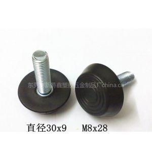 供应35mm 1/4牙家具塑料T型脚垫 塑胶调整脚