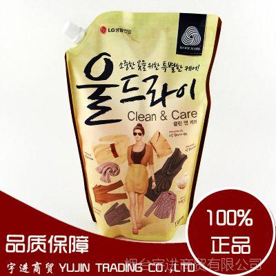 韩国正品 LG成人洗衣液 真丝毛棉衣物防变形防静电 强力去污清洗