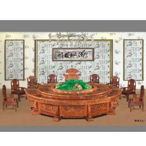 供应厂家直销电动餐桌/酒店家具/非洲黄花梨
