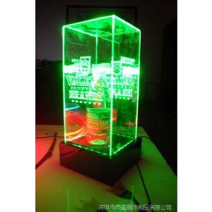 供应亚克力LED发光盒子,透明产品盒,演示盒,LED产品专业厂家