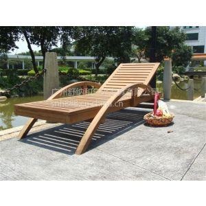 供应木制躺椅,配坐垫户外沙滩椅,柚木制