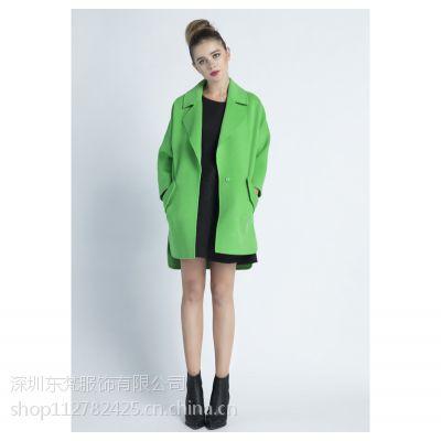 FASVGO梵森菲格2014秋季新款大码欧美风时尚简约气质纯色羊绒外套女
