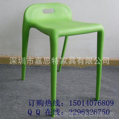 餐厅配套一体时尚塑胶椅 可叠放休闲塑料凳子厂家批发