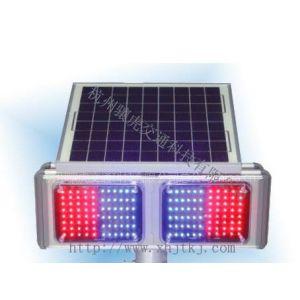 供应骧虎交通红蓝太阳能爆闪灯,双面太阳能爆闪灯,4灯交通信号灯