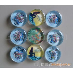 供应玻璃磁扣 水晶滴胶冰箱贴 磁性拼图 磁性名片