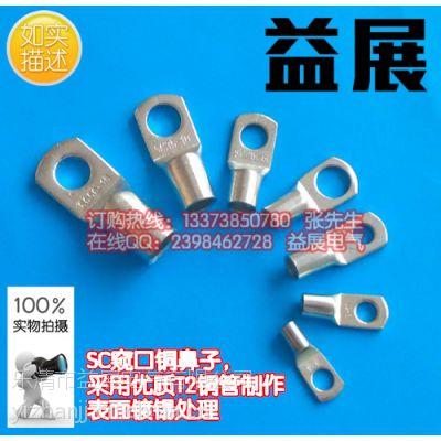 供应益展牌sc50-10窥口铜鼻子规格,镀锡铜接线端子,铜鼻子厂家,