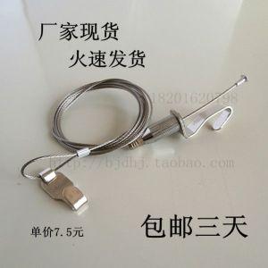 供应不锈钢挂画绳/可调节钢丝挂画钩/双钩画框挂画器轨道专业生产