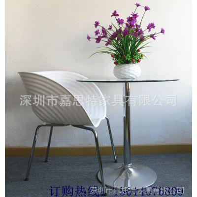 四川家具批发 实惠耐用的abs展览用椅 白色塑料椅 贝壳椅批发