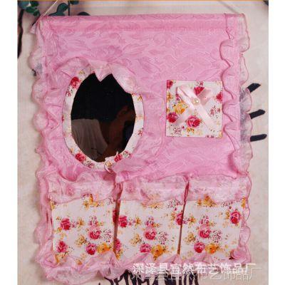 可爱小妞精品挂袋 墙上挂袋 储物袋 杂物收纳袋 三色可选