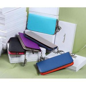 供应迪奥钱夹 dior钱包 拼色原版牛皮钱包 5个色可选