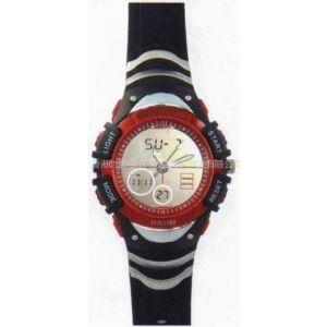 供应厂家直销 手表批发 【质量保障】数字指针双显手表 双机芯 运动表