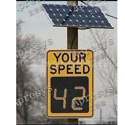 供应太阳能雷达测速LED反馈屏