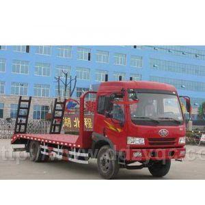 供应解放1163平板运输车 锡柴140发动机 挖机拖板车