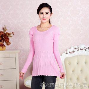 供应2013秋季新款圆领女士羊绒衫短款套头修身毛衣羊毛打底衫现货批发
