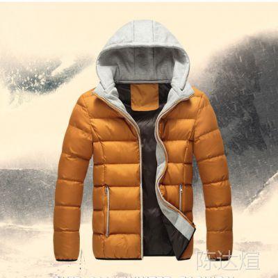 秋冬装修身加厚可脱卸连帽潮男式棉服 休闲棉袄外套分销代理代发