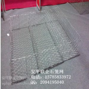 供应四川落石防护用五拧重型六角网联企石笼网80*100mm批发