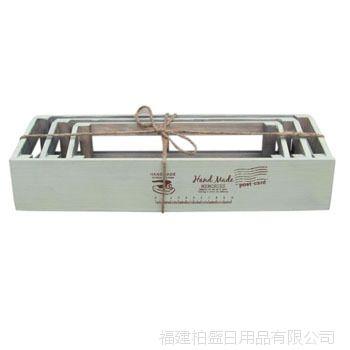 zakka 生态良品 木制长方形花盒套装 园林园艺工具 厂家批发