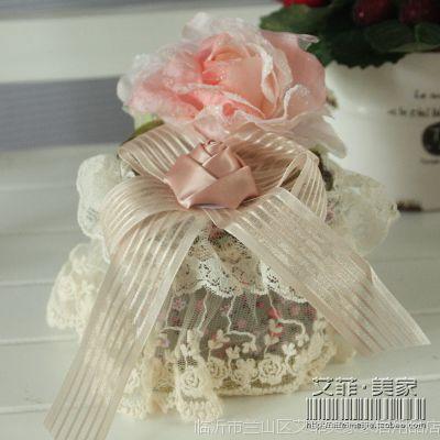 艾菲美家 巴黎之恋 棉签盒 布艺蕾丝牙签盒 棉签桶 送棉签 P20