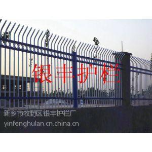供应河南开封出口优质热镀锌欧式尖桩栅栏无焊接组装式安装栅栏