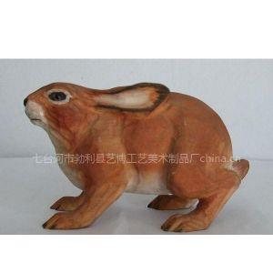 供应手工木雕工艺品十二生肖兔子|生日礼物礼品兔子