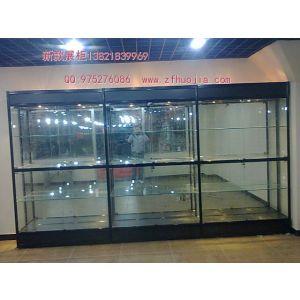 供应天津钛合金玻璃展示柜货架制作厂家