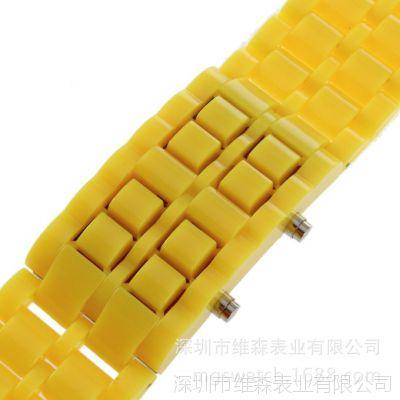 2014厂家定制女士手表 七彩塑胶电子手表 女生礼品手表批发厂家