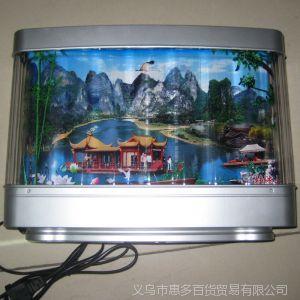 供应805桂林山水 杭州西湖 张家界流水画 动感画 装饰画 景观灯