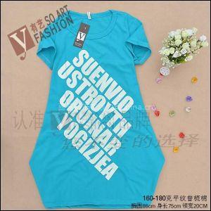 韩版服装批发 手绘圆领短袖女式T恤 夏季女装上装 供应批发