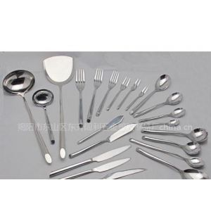 供应不锈钢餐具 阔利不锈钢刀叉匙铲壳奶油刀牛排刀 1455系列