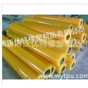 供应聚氨酯PU包胶滚轮 五金配件聚氨酯滚筒 优质橡胶聚氨酯托辊