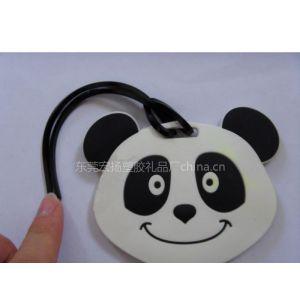 供应异形PVC熊猫行李牌