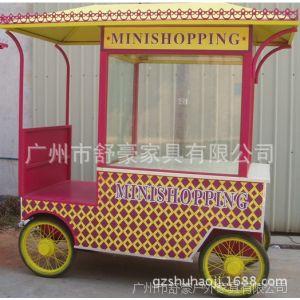 供应内蒙古特色小吃移动外卖车、佛山特定制冰淇淋手推实木车、售货车