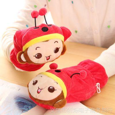尚派~热卖 冬季新款 韩版卡通手套 时尚保暖全指手套ST002摇粒绒