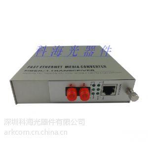 供应FC100M自适应插卡式双纤光纤收发器 百兆光纤收发器
