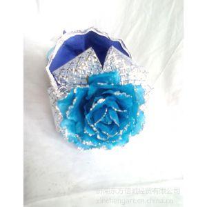供应情人节蓝色妖姬批发 情人节玫瑰花束 巧克力玫瑰花