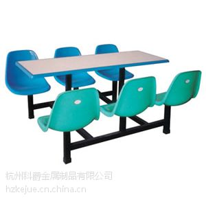 供应大量批发、供应玻璃钢连体餐桌椅、食堂餐桌椅、靠背餐桌适合工厂学校用