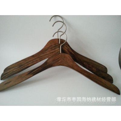 实木衣架复古高档 特级模特木衣架 拍照使用木衣架 大挂钩衣架