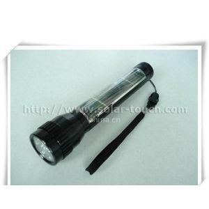供应铝合金电镀太阳能手电筒-STH001