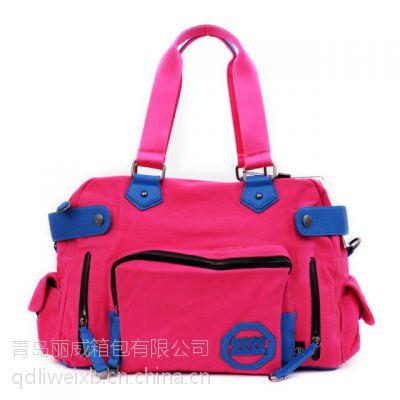 青岛箱包厂供应外贸手提包定做、手提包批发、手提包厂家
