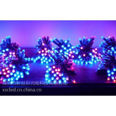 深圳厂家特价供应LED全彩灌胶外露灯串12mm全彩灌胶外露灯正品批发