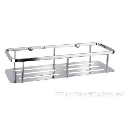 开平网篮 卫浴挂件 304不锈钢 单层方形 浴室置物架 转角架300