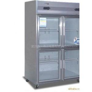 供应冰柜冷柜冰箱 D-820L4B 四门玻璃门冷柜 双机双温 厨房冷冻冷藏展示柜