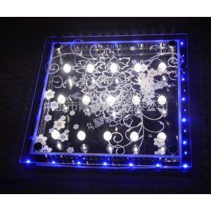 供应厂家直销 现代玻璃吸顶灯 LED灯具 方形平板客厅卧室餐厅灯 高亮节能