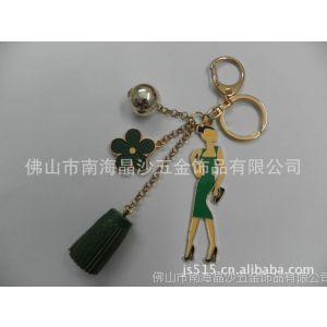 供应厂家直销女性人物滴胶钥匙扣 韩式流苏钥匙扣